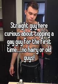 First time straight gay curious
