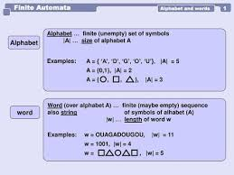 Finite Automata Alphabet word - ppt download