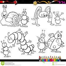 Insectes Dr Les R Gl S Pour Livre De Coloriage Illustration De Coloriage Lune G L