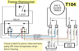 freeze control by pass timer and turns pump on when temperature drops below freezing resources how to wire t104