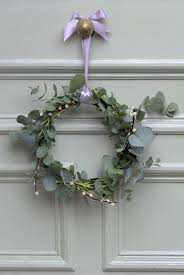 Eucalyptus and Pussy Willow wreath made by Bloom & Wild www.bloomandwild.com