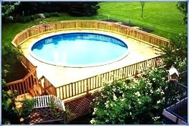 above ground pool with deck packages full size of above ground pool deck kits wooden home
