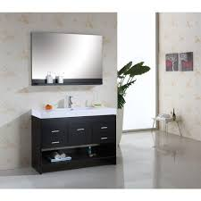 Bathroom Single Vanity Virtu Usa Gloria 48 In Single Basin Vanity In Espresso With
