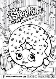 Small Picture Shopkins Colour Color Page Delish Donut ShopkinsWorld dounut
