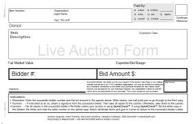 Auction Registration Form Template Auction Form Ohye Mcpgroup Co