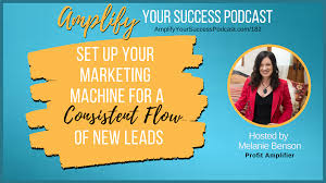 Set Up Your Marketing Machine for a Consistent Flow of New Leads on Amplify  Your Success Podcast Episode 182 with Melanie Benson — Melanie Benson