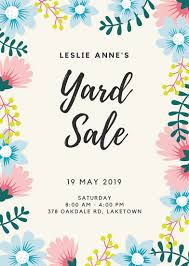 girly borders for microsoft word customize 345 yard sale flyer templates online canva