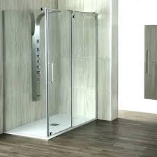 aqua glass shower stall stalls one piece 2 door recess sliding installation instructions