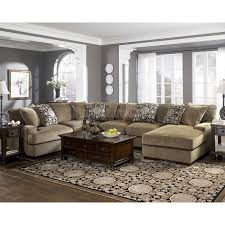 gray walls, tan couch.. didn't think it would work but I like it :) Grenada  - Mocha Large Sectional Living Room Set | House | Pinterest | Sectional  living ...