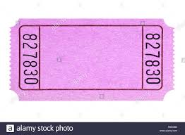 Blank Pink Movie Or Raffle Ticket Stub Isolated Stock Photo