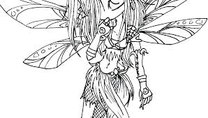 Free Printable Coloring Pages For Adults Dark Fairies Fairy