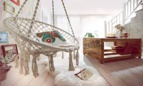 macrame hanging chair in your living room