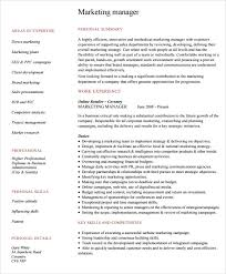 Awesome Collection of Marketing Manager Resume Sample Pdf With Additional  Reference