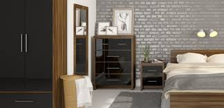 Black Gloss Bedroom Furniture Raya Furniture - Black and walnut bedroom furniture
