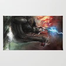 dragon viking ship rug