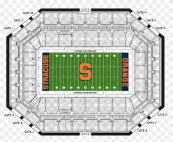 Carrier Dome Seating Chart Hd Png Download 980x817