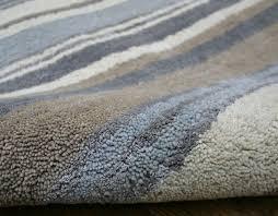 impressive wool runner rugs stripes luxury blue grey cream rug martin