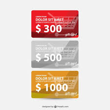Gift Cards Set Vector Free Download