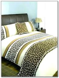 leopard print bedding animal sets with curtains comforter set super king size
