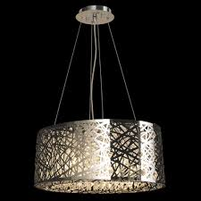 aramis collection 8 light chrome finish and clear crystal chandelier 20 l x 11 w x