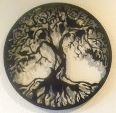 on white tree of life metal wall art with van read southern imagination round rock tx