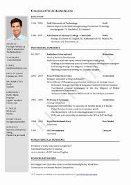 Resume Format For A Fresher Unique Alluring Latest Samples Pdf