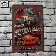 2018 hot rod vintage poster metal tin signs 20x30cm iron plate wall decor plaque club pub home bar garage wall picture from latex2010 14 3 dhgate
