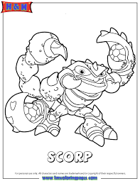 Small Picture Skylanders Swap Force Scorp Coloring Page H M Coloring Pages