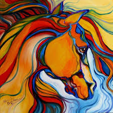 art southwest abstract horse by artist marcia baldwin