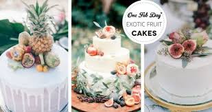 Wedding Cake Trends Opulent Exotic Wedding Fruit Cakes
