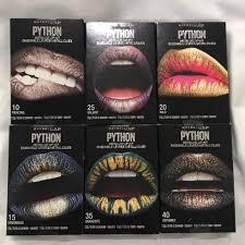 6 maybelline python metallic lip kits