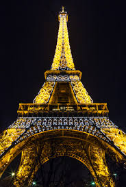 light architecture night and eiffel tower hd