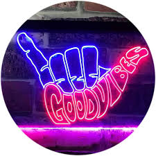 Good Vibes Light Up Sign Good Vibes Led Neon Light Sign Way Up Gifts