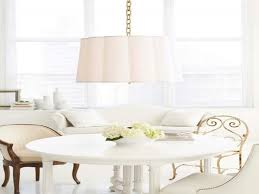 barbara barry scallop chandelier transitional dining room summer