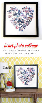 get your photos off your phone and on you wall with this cute diy heart photo