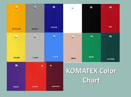 Komatex Color Chart