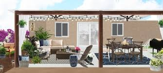 3d rendering boho patio design