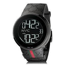 gucci i gucci black watch ya114207 the watch gallery