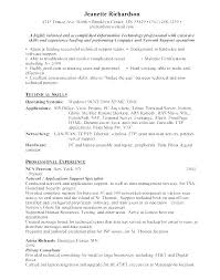 Sample Resume Technical Support Analyst Resume It Support Software