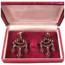 antique garnet chandelier earrings dazzling