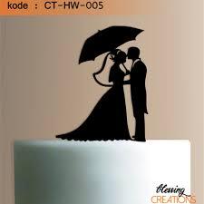 Jual Cake Topper Acrylic Wedding Uk Lebar 12 Cm Termurah Terlaris Di