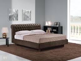 estro salotti davemport modern brown leather bed