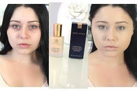 first impression review estee lauder double wear foundation makeup tutorial foundation makeup