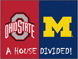 ohio state michigan house divided rugs 34x45