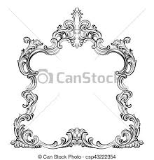mirror frame drawing. Luxury Baroque Rococo Mirror Frame Set - Csp43222354 Mirror Drawing