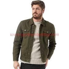 12ps4171 mens polar denim jacket khaki bv1347 by brave soul color dark green