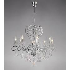 diyas il31368 vela pendant polished chrome crystal