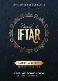 Ramadan Iftar Party Celebration Template Design Vector