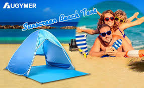 UV <b>Portable</b> 2-3 Person <b>Folding Beach</b> Shade Sun Shelters ...