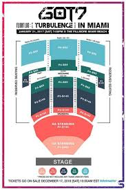 Miami Beach Fillmore Seating Chart Got7 Flight Log Turbulence Fanmeet In Miami Guide Milktea305